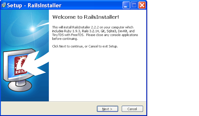 installing rails on windows step 2