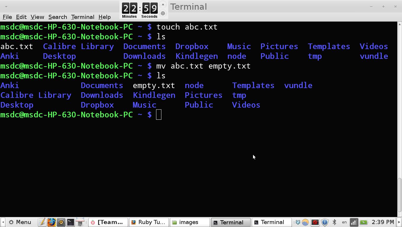 create a directory