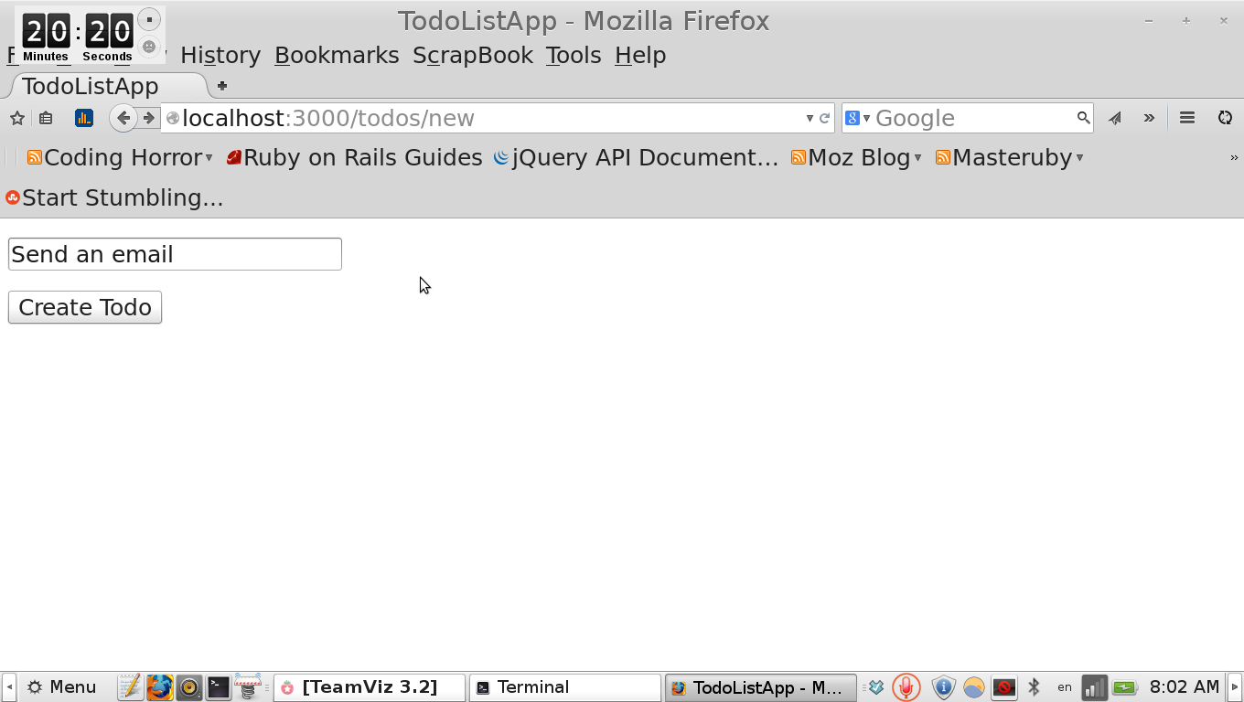 how to create new todo form in rails