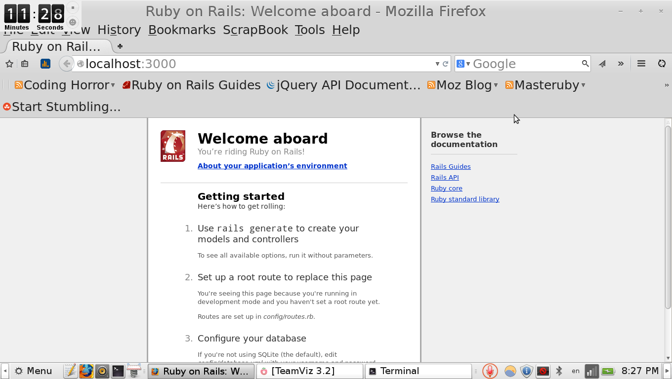 rails welcome screen